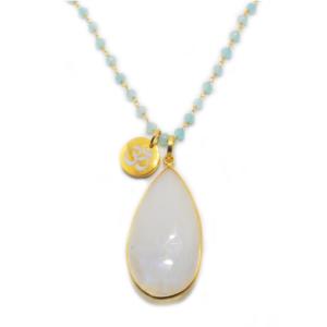 Aqua Chalcedony & Moonstone Gold